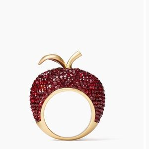 Kate Spade Dashing Beauty Apple Ring Size 6 NWT
